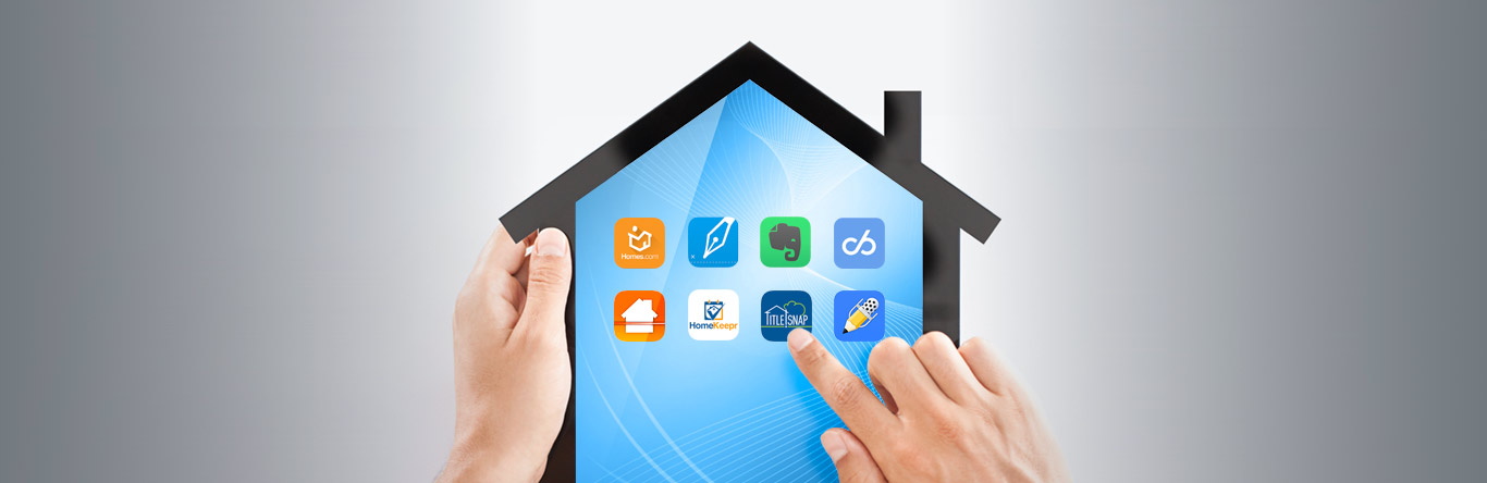 house shaped tablet with apps displaying
